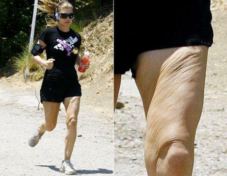 Şarkıcı Fergie, sabah koşusunda böyle görüntülenmişti